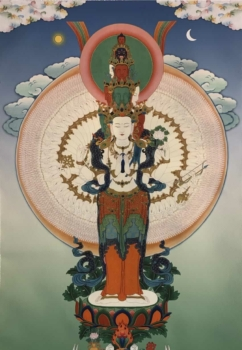 1000 Armed Chenrezig Thangka