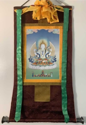 4 Armed Chenrezig Thangka