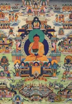 Amitabha with Retinue Thangka