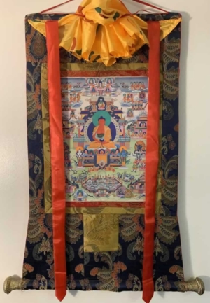 Amitabha with Retinue Thangka