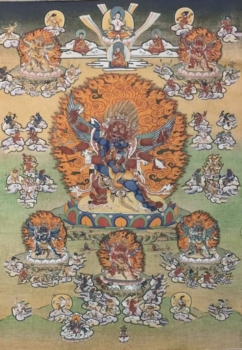 Hayagriva with Consort Thangka