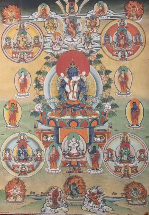 Vajradhara with Consort Thangka
